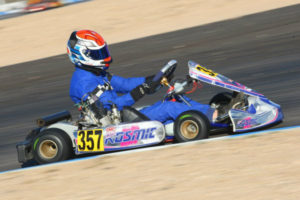 Former US Rotax champ Phillip Arscott was deadly quick in the RPG Kosmic, winning Sunday in Senior Max (Photo: Sean Buur - Go Racing Magazine)