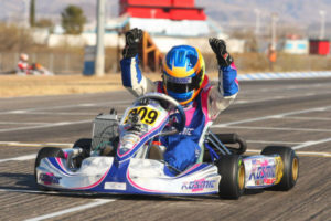 New RPG driver Blaine Rocha was among the quickest all weekend in Junior Max, winning Sunday's Final (Photo: Sean Buur - Go Racing Magazine)