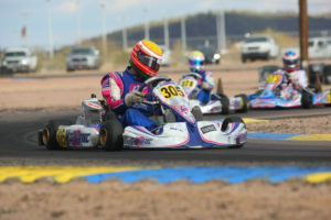 Senior Max driver Parker McKean added two top-five finishes to his CV in Phoenix (Photo: Sean Buur - Go Racing Magazine)