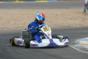 Phillip Arscott heads into CalSpeed looking to clinch the Senior Max championship for a Rotax Grand Finals ticket (Photo: Sean Buur - Go Racing Magazine)