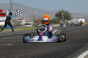 Luke Selliken came from last to first on the weekend, sweeping Sunday's TaG Junior action (Photo: On Track Promotions)