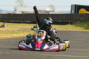 Michael Michoff scored his first victory at the Rotax Challenge of the Americas in the Junior Max division (Photo: SeanBuur.com)