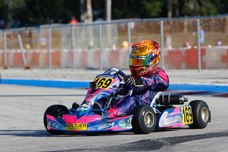 Cadet racer for RPG Branyon Tiner recorded a best result of fifth in the ultra-competitive Mini Swift division (Photo: On Track Promotions – otp.ca)